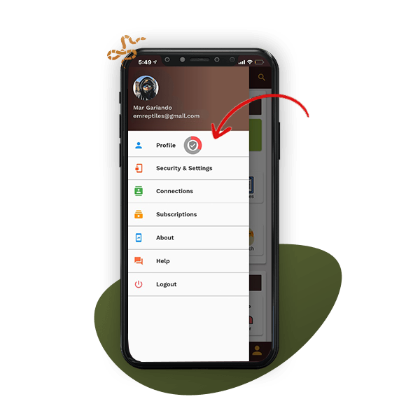 click on profile menu