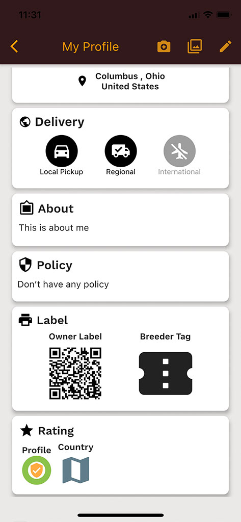 Set up delivery option for local, regional, or international